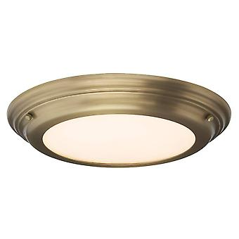 Elstead Welland - LED 1 Light Flush Light - Laiton vieilli