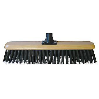 Faithfull Platform Broom Head Black PVC 45cm (18in) Threaded Socket FAIBRPVC18R