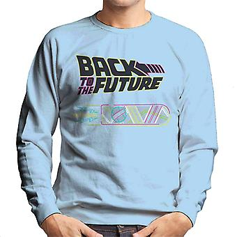 Back to the Future Neon Logo With Hoverboard Men's Sweatshirt