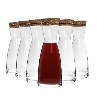 Bormioli Rocco Ypsilon Water Carafe Decanter Jug with Cork Lid - 285ml - Pack of 6
