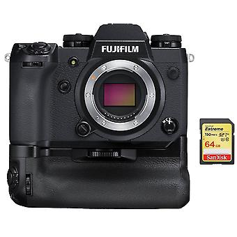 FUJIFILM X-H1 KIT VPB-XH1 GRIP + cartão SD de 64 GB