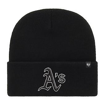 47 Brand Beanie Winter Hat - HAYMAKER Oakland Athletics