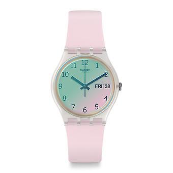 スウォッチ Ge714 Ultrarose ピンク シリコン腕時計
