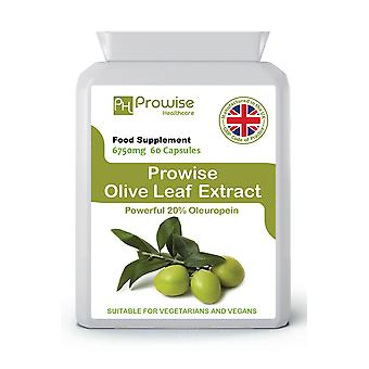 Olive Leaf Extract 6750mg 60 Capsules | Suitable For Vegetarians & Vegans | Made In UK