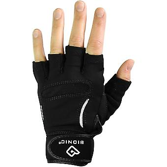 Bionic Men's Relief Grip Fitness Fingerless Gloves - Black