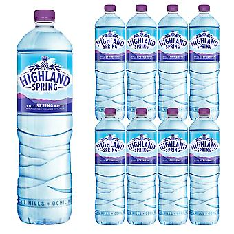 9 x 1.5 Ltr Botella Highland Natural Spring Still Mineral Water Hydrate Soft Drink