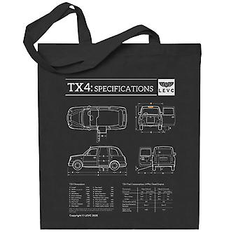London Taxi Company TX4 Specifications Levc Totebag