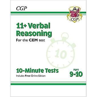 Nye 11 + CEM 10-minutters tests: verbal ræsonnement-aldre 9-10 (med online udgave)