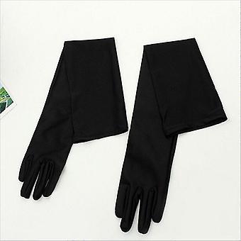 Ενήλικες γυναίκες δέρμα όπερα αγκώνα καρπό τέντωμα σατέν δάχτυλο μακρύ flapper γάντια