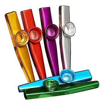 Metal Kazoo portable léger pour débutant, instrument de flûte, mélomanes,