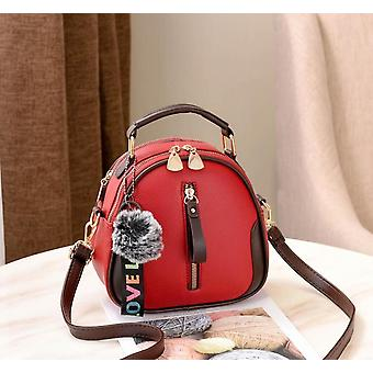 Women Fashion Shell Portable Shoulder Bag, Pu Leather Elegant Female Bag With