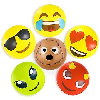 18 ' emoji חוף בטלנים, 6-pack