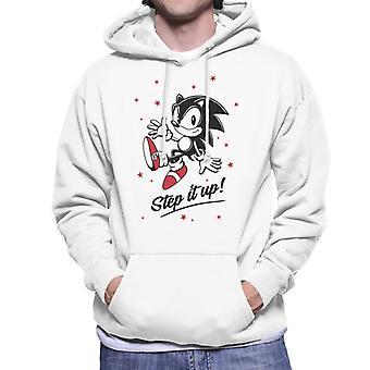 Sonic The Hedgehog Red Stars Step It Up Men's Hooded Sweatshirt