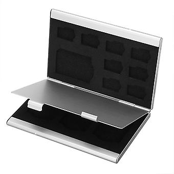 Mini Aluminum Alloy Micro Tf Sd Memory Card Storage Case Protector Holder Box