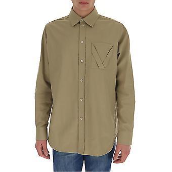 Bottega Veneta 647382v05c09733 Camicia in cotone beige da uomo
