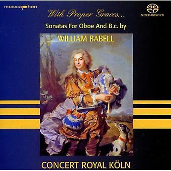 Babell / Koln - With Proper Graces Babell: Oboe Sonatas [SACD] USA import