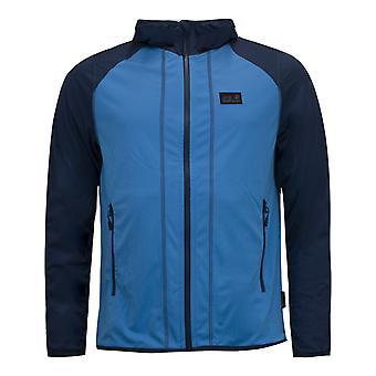 Jack Wolfskin Summer Hydro Hooded Jacket Blue Track Top 1708631 1152