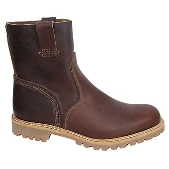 تيمبرلاند التمهيد شركة رجال زلة على سحب ما يصل الأحذية الجلدية براون A132H B7C
