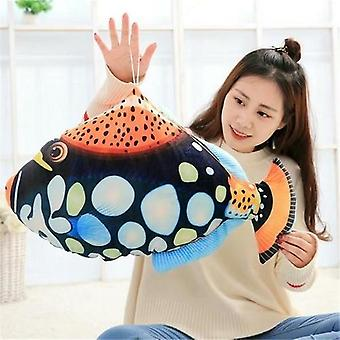 Tropical Fish 3d Printing Soft Plush Chair Seat Cushion Pillow