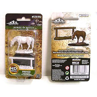 WizKids Deep Cuts Miniatures non peintes - Horse & Hitch