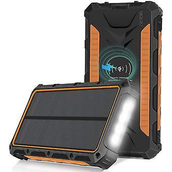 Sendowtek Solar Charger 20000mAh QI Wireless Power Bank Portable External Battery Pack Charger