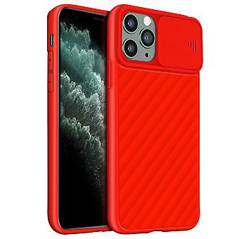 Etui na iPhone 11 Pro Max Protection Ribbed finish Sliding camera cover red