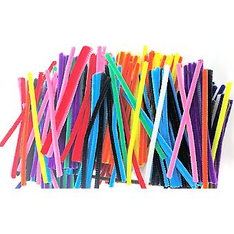 Kids b crafty 500 chenille craft pipe cleaners assorted sizes 15cm x 6mm 11 colours - pipecleaners s