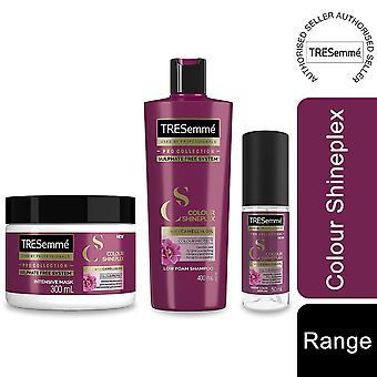 TRESemmé Colour Shineplex Shampoo 400ml, Mask 300ml and Serum 50ml, Bundle of 3
