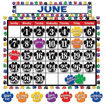 Colorful Paw Prints Calendar Set