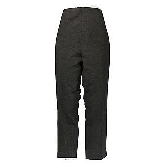 Kelly by Clinton Kelly Women's Petite Pants Pull-On Ponte Pants Gray A272027
