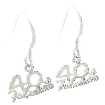 40 en Fabulous Sterling Zilveren Oorbellen .925 X 1 Paar veertigste