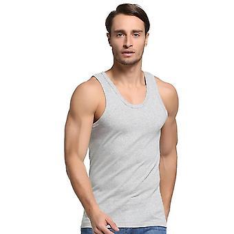 Masculino Cotton Tank Tops Underwear, Mens Undershirt Transparent Fitness Wrestling