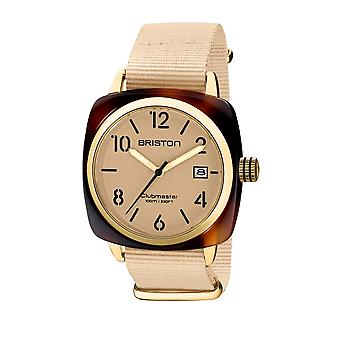 Briston 20240.PYA.T.39.NTV Clubmaster Classic Terracotta Acetate Wristwatch Cream