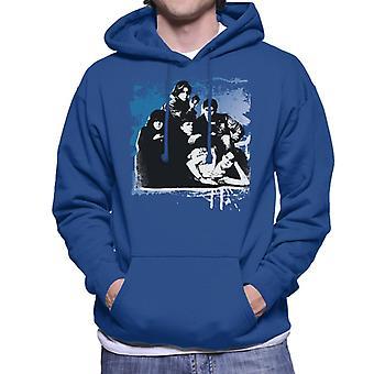 The Breakfast Club Characters Together Brush Stroke Men's Hooded Sweatshirt