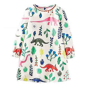 Hosszú ujjú hercegnő tunika jersey ruha, dinoszaurusz design