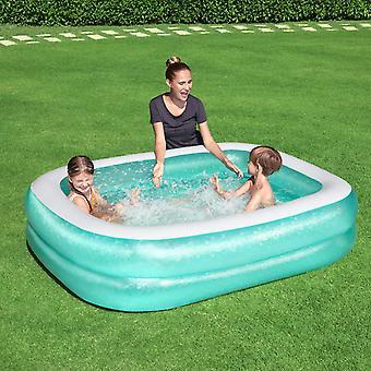 "Bestway Inflatable 6'7"" x 59"" x 20""/2.01m x 1.50m x 51cm Rectangular Family Pool"