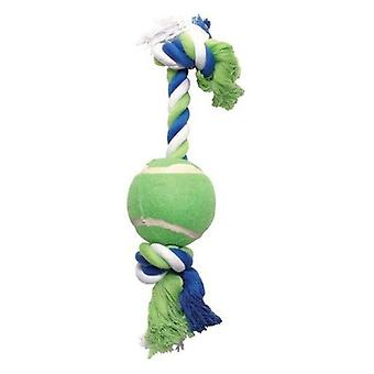Hagen DOGIT COTTON ROPE WITH A BALL IN BLUE / LIME / WHITE (Dogs , Toys & Sport , Ropes)