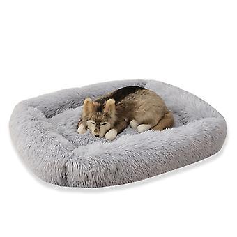 Neliön muoto mukava pitkä muhkea pörröinen tyyny suurelle kissakoiratalolle
