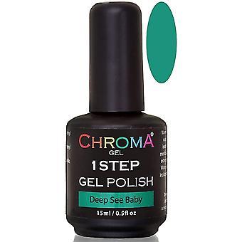 Chroma Gel One Step Gel Polish - Deep Sea Baby