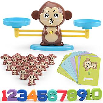 الحيوانات عدد التوازن الرياضيات اللعب التعليمية اللعب قبل المدرسة طفل صغير موازنة لعبة الرياضيات