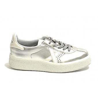 Shoes Women Munich Sneaker Mod. Barru Sky In Ecopelle Col. Silver Ds19mu05