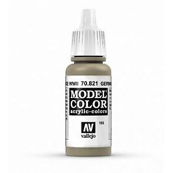 Vallejo Model Color 17ml Acrylic Paint - 821 German Cam Beige WWII