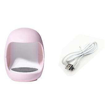 Secador de uñas Mini 3w usb uv led lámpara arte arte manicura herramientas de huevo rosa forma