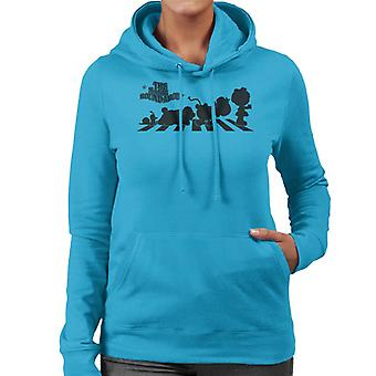The Magic Roundabout Characters Silhouette Women's Hooded Sweatshirt