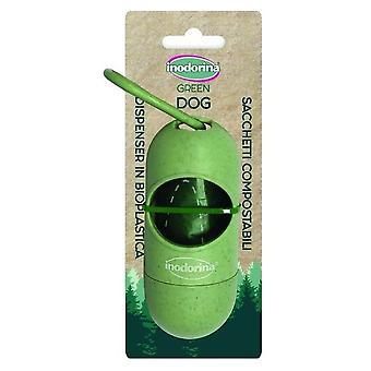 Inodorina Green Dispenser + 1 roll bags