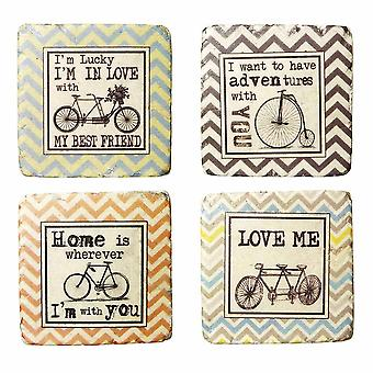 Coasters Love/Bicycles By Heaven Sends