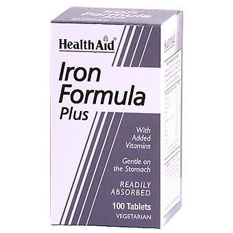 Health Aid Iron Complex Iron Formula Plus 100 Tablets