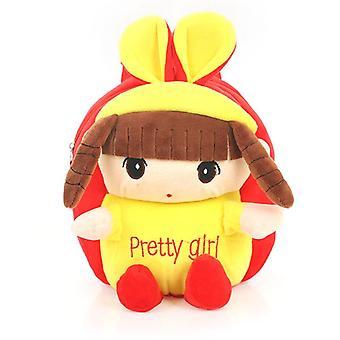Liu hai tyttö punainen lapset's vauvan muhkea lelu pieni koululaukku reppu sarjakuva laukku