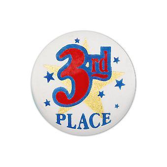 3. Platz Satin Button (Pack von 6)