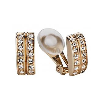 Traveller Clip Earrings With Crystals From Swarovski 22ct Gold Plated - 156835 - 436